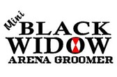 Mini Black Widow Arena Groomers Logo